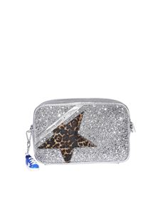 Golden Goose - Glittery cross body bag in silver color