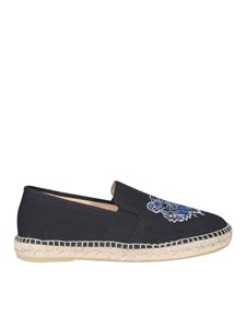 Kenzo - Tiger embroidered espadrilles in black