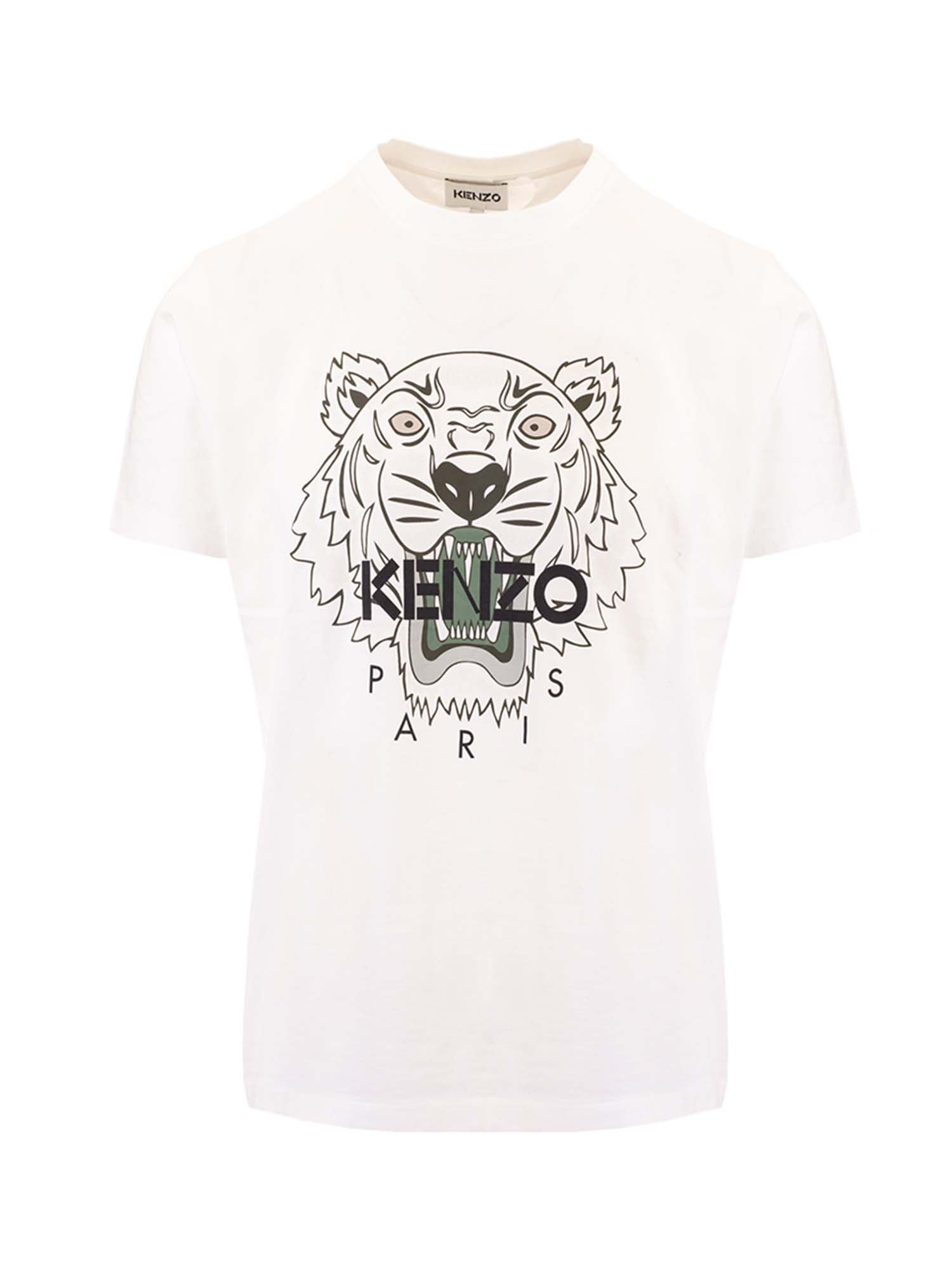 Kenzo TIGER T-SHIRT IN WHITE
