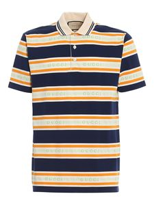 Gucci - Striped jersey cotton polo