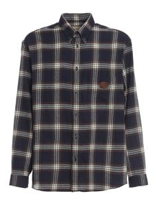 Gucci - Checked wool shirt in blue