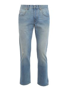 Gucci - Organic cotton jeans in light blue