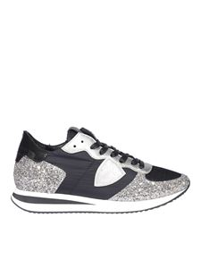 Philippe Model - Glittery sneakers in black and silver