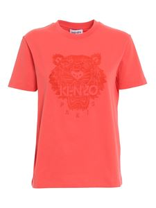Kenzo - Tiger T-shirt in tangerine color
