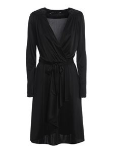 Love Moschino - Heart shoulder pad dress in black