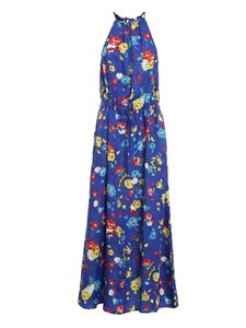Love Moschino - Flowers print dress in blue