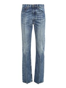 Maison Margiela - Distressed effect recycled denim jeans