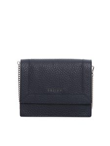Orciani - Pebbled leather cross body bag in blue