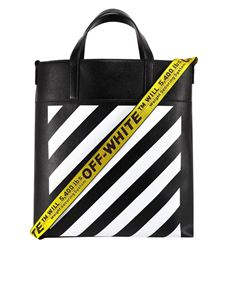 Off-White - Tote Diagonal nera