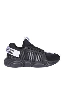 Moschino - Logo tape sneakers in black
