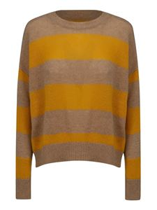 Marni - Open back jumper in beige and yellow