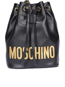 Moschino - Bucket bag in black and golden color