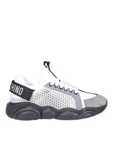 Moschino - Logo tape sneakers in white