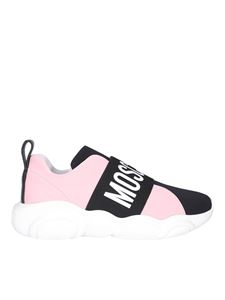Moschino - Contrasting stripe white and pink sneakers