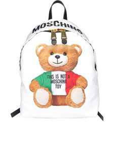 Moschino - Italian Teddy Bear backpack in white