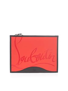 Christian Louboutin - Pif pouch in red and black