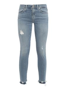 7 For All Mankind - The Skinny Crop Luxe Vintage Skywalk jeans in light blue