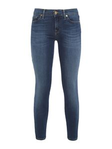 7 For All Mankind - The Skinny Crop Bair Duchess jeans in blue