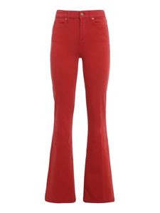 7 For All Mankind - Lisha Slim Illusion Flame jeans in red