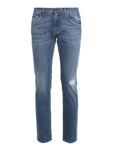 Dolce & Gabbana - Stretch skinny jeans in light blue