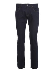 Dolce & Gabbana - Stretch denim slim fit jeans in blue