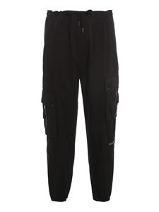 Dolce & Gabbana - Logo patch cargo trousers in black