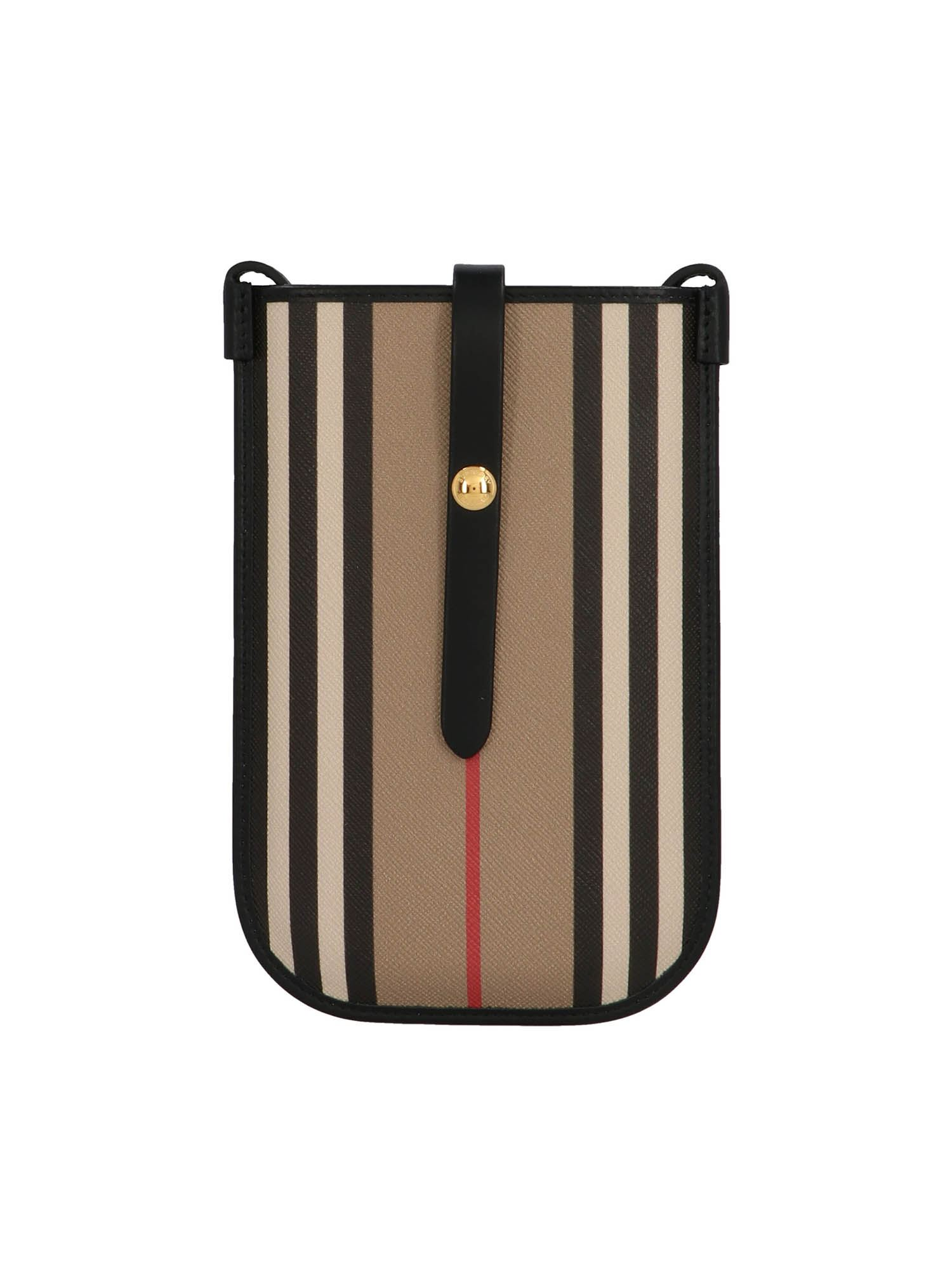 Burberry ICON STRIPE E-CANVAS PHONE CASE