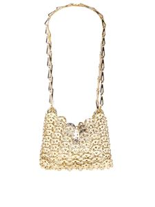Paco Rabanne - Iconic 1969 Nano clutch bag in golden color