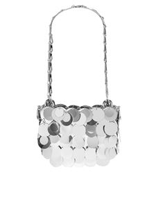 Paco Rabanne - Sparkle clutch bag in silver color
