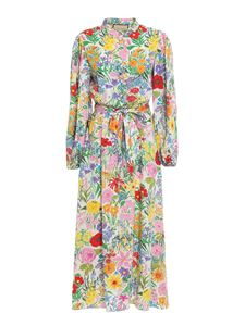 Gucci - Floral print silk dress in multicolor