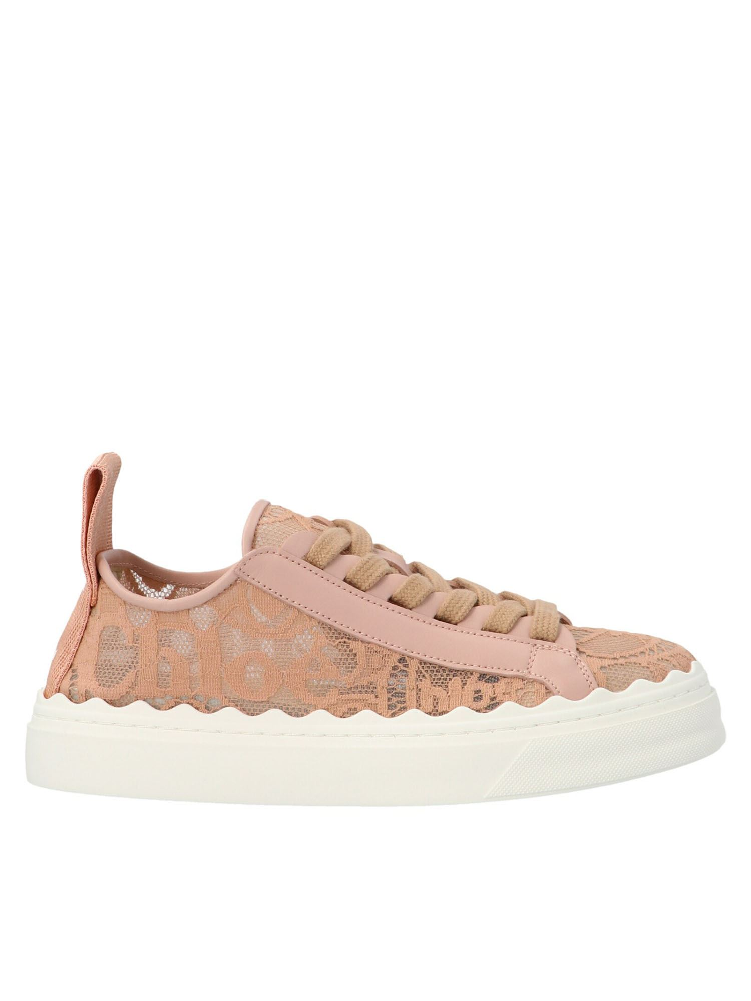 Chloé LAUREN SNEAKERS IN PINK TEA