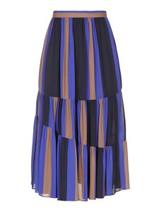 Jucca - Crêpe-like skirt in multicolor