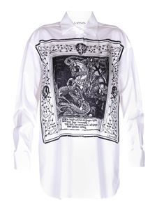 Lanvin - Printed white cotton shirt
