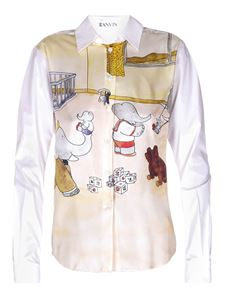 Lanvin - Camicia in seta Babar The Elephant bianca
