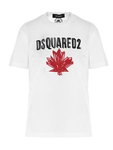 Dsquared2 - T-shirt bianca con stampa