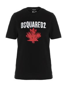 Dsquared2 - T-shirt with print in black
