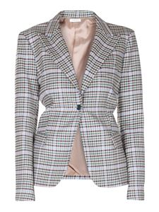 Parosh - Checked stretch wool blazer
