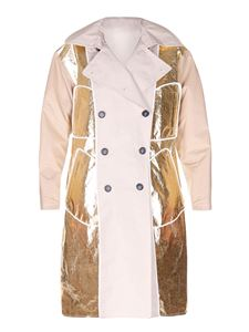 N° 21 - Laminated effect reversible trench coat