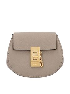Chloé - Drew mini backpack in Motty gray