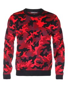 Michael Kors - Red camouflage sweater