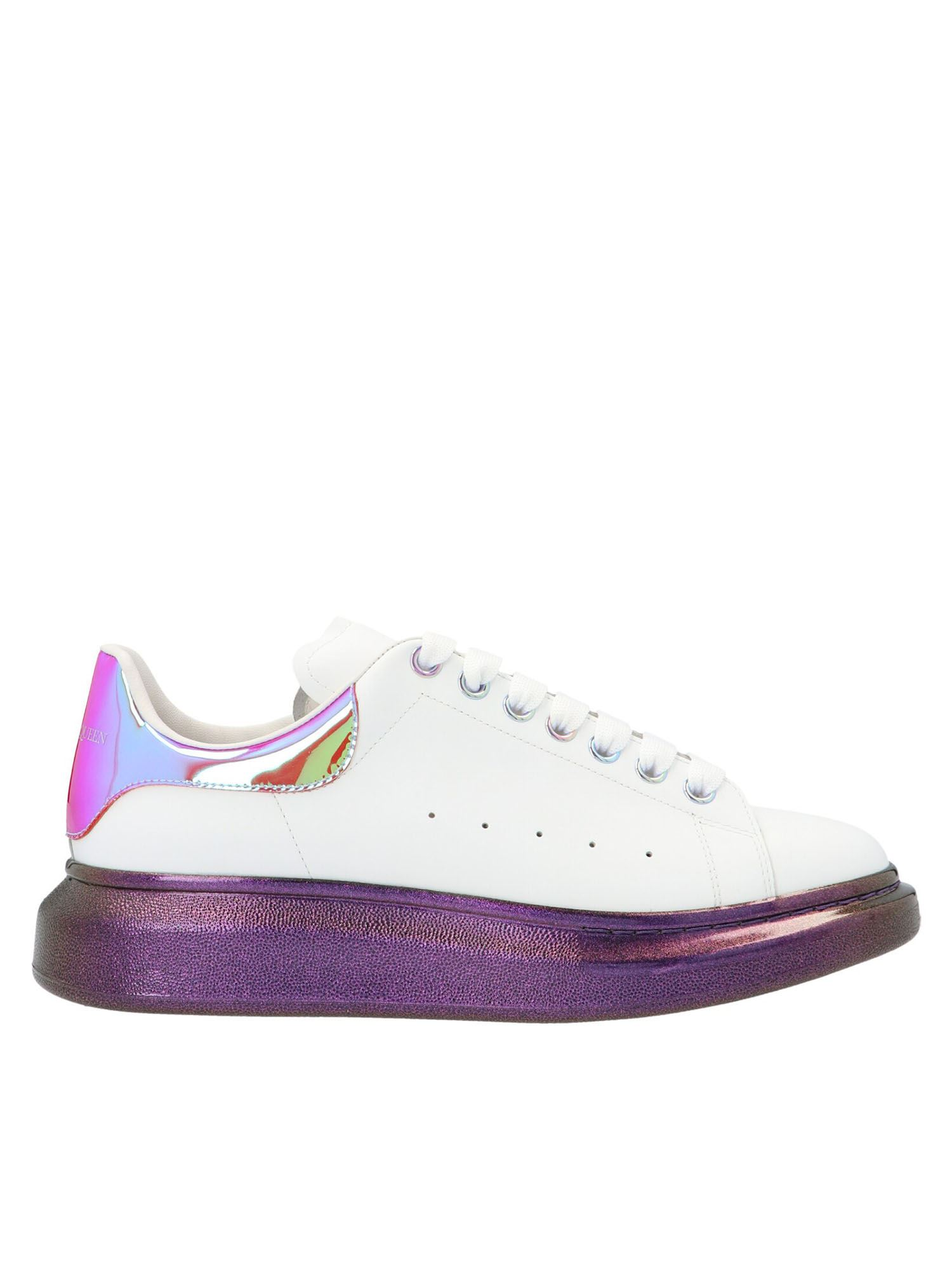 Alexander Mcqueen ALEXANDER MCQUEEN OVERSIZE SNEAKERS IN WHITE AND PURPLE