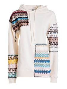 M Missoni - Cotton hoodie in white