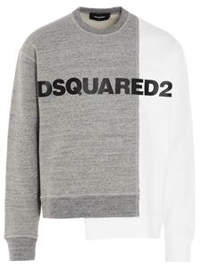 Dsquared2 - Crewneck sweatshirt in grey and white