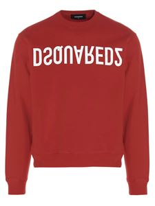 Dsquared2 - Crewneck sweatshirt with logo print in red