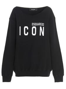 Dsquared2 - Crewneck sweatshirt with print in black