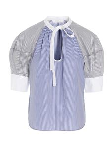 Chloé - Short sleeved shirt in blue white