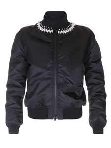 Givenchy - Embellished tech fabric bomber jacket in black