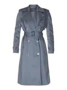 Givenchy - Trench verde in gabardina di cotone