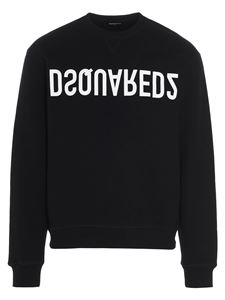 Dsquared2 - Crewneck sweatshirt with logo print in black