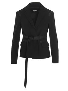 Dsquared2 - Blazer with buckle fastening in black